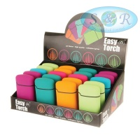 V-Fire Easy Torch 8 Pastel Colours Jet Flame Lighters