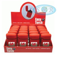 V-Fire Easy Torch 8 Welsh Flag Jet Flame Lighters