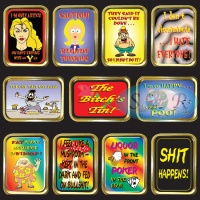 1oz & 2oz Gold Gift Tins Funny Sayings