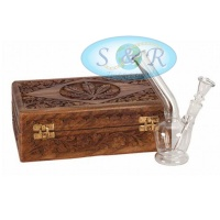 17cm Single Bubble Boxed Glass Waterpipe Bong