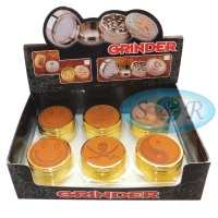 3 Part Leather Top Metal Grinders