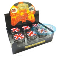 Union Jack UK 3 Part 50mm Metal Grinder