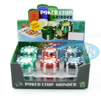 Poker Chip 3 Part 53mm Metal Grinder