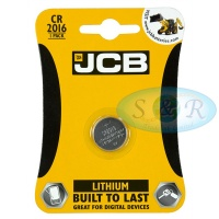 JCB CR2016 3v Lithium Coin Cell Battery
