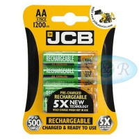 JCB AA 1200mAh NiMH Rechargeable Batteries Pack of 4