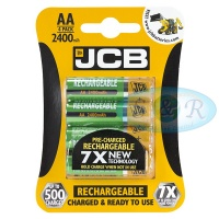JCB AA 2400mAh NiMH Rechargeable Batteries