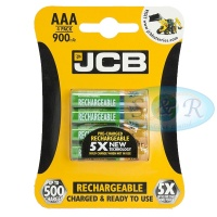 JCB AAA 900mAh NiMH Rechargeable Batteries