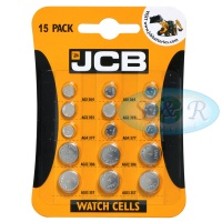 JCB Mixed Size Watch Cell Batteries 15 Pack
