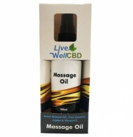 LV Well CBD Massage Oil 300mg - 100ml