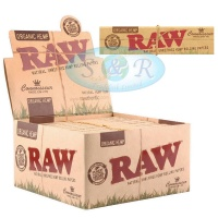 RAW Organic Connoisseur King Size Slim Rolling Papers & Tips