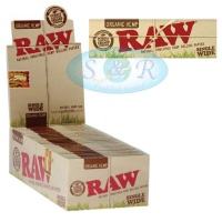 RAW Organic Single Wide Standard Size Rolling Papers