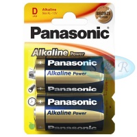 Panasonic Alkaline Power Batteries Size D