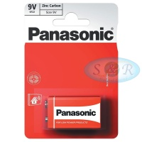 Panasonic Zinc Power Batteries Size PP3 9v