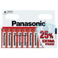 Panasonic Zinc Power Batteries Size AA
