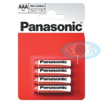 Panasonic Zinc Power Batteries Size AAA