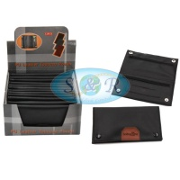 Black PU Leather Tobacco Pouches