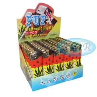 Puf Tri Colour Leaf Electronic Refillable Lighters
