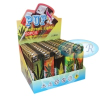 Puf Assorted Leaf Electronic Refillable Lighters