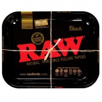RAW BLACK Medium Metal Rolling Tray