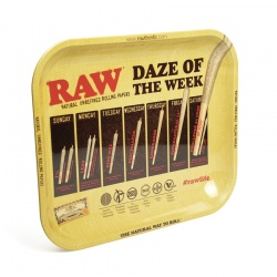 RAW Daze of the Week Medium Metal Rolling Tray