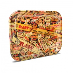RAW Mix Medium Metal Rolling Tray