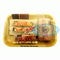 RAW Small Metal Rolling Tray Set 2