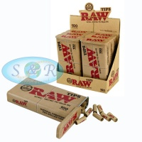 RAW 100 Pre-Rolled Tips in Tin<br>6 per Box