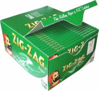 Zig-Zag Green King Size Rolling Papers Box of 50