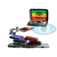 Breit Pipe Smoking Kit in Metal Case