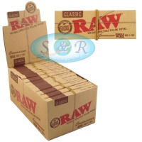 RAW Classic Single Wide Connoisseur Rolling Papers with Tips