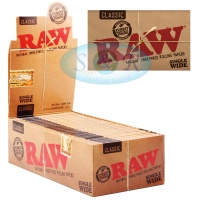 RAW Classic Single Wide Double Packs Standard Size Rolling Papers