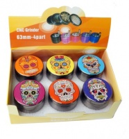 Sugar Skull Design 4 Part 55mm Metal Grinder