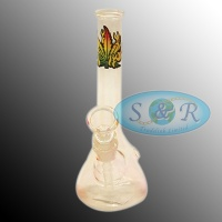7 Inch Clear Glass Waterpipe Bong