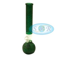 12 Inch Percolator Frosted Net Glass Waterpipe Bong