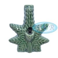 Ceramic Leaf Shaped Pipe 18cm