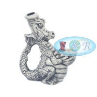 Ceramic Dragon Pipe 20cm Tall
