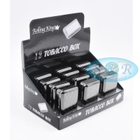 Rolling King Tobacco Box Plain Black