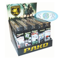 Pako Casino Electronic Refillable Lighters 50 per Pack