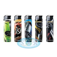 Pako Modern Cars Electronic Refillable Lighters 50 per Pack