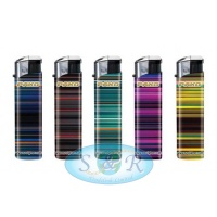Pako Stripes Electronic Refillable Lighters 50 per Pack
