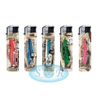 Pako Classic Cars Electronic Refillable Lighters 50 per Pack