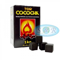Tom Cococha Yellow 100% Natural Shisha Charcoal 1kg
