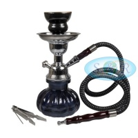 24cm Single Hose Pumpkin Shisha Hookah Black