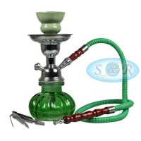 24cm Single Hose Pumpkin Shisha Hookah Green