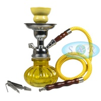24cm Single Hose Pumpkin Shisha Hookah Yellow