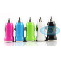 Ultra Max Single USB Car Charger 1.0A Various Colours