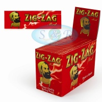 Zig-Zag Red Regular Single Wide Rolling Papers