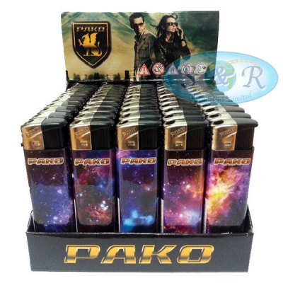 Pako Galaxy Electronic Refillable Lighters