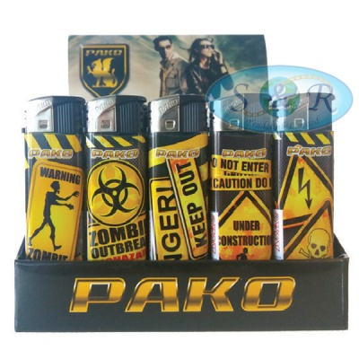 Pako Warnings Electronic Refillable Lighters