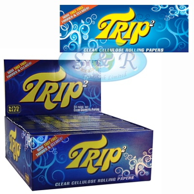 Trip 2 Clear Cellulose King Size Rolling Papers